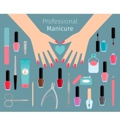 Professional Manicure accessorie vector