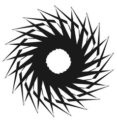 radial geometric element series abstract black vector image