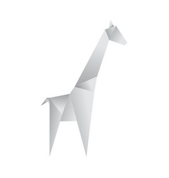 realistic detailed 3d origami paper animal giraffe vector image