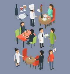 restaurant people catering staff services buffet vector image