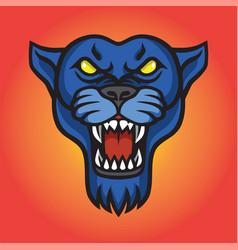 roaring jaguar panther logo vector image