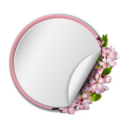 round frame with sakura blossom vector image