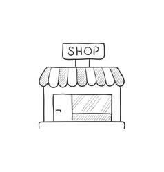 Shop store sketch icon vector image