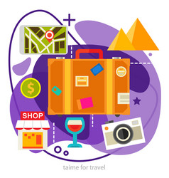 sightseeing and shopping concept trendy ameoba vector image