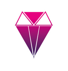 Silhoouette brilliant crystal diamond and precious vector