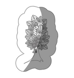 Silhouette beautiful tree icon vector