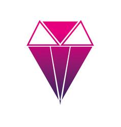 Silhouette brilliant crystal diamond and precious vector
