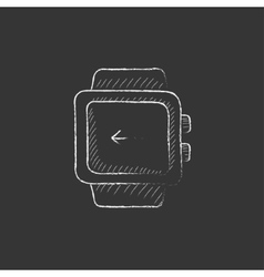 Smartwatch Drawn in chalk icon vector