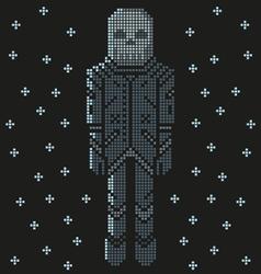 space skull pixel art astronaut vector image