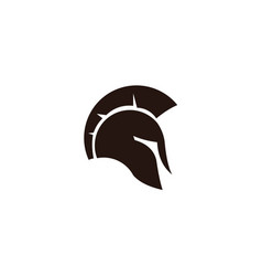 spartan warrior helmet head vector image