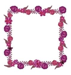 Square floral frame vector image