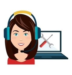 Technical service and customer support design vector