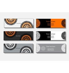 template banner business card an invitation vector image