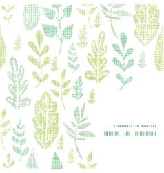 textile textured spring leaves frame corner vector image