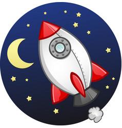 Toy rocket ship cartoon vector