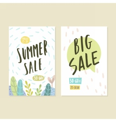 Two flyer templates Summer sale vector image
