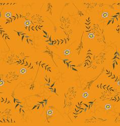 vintage background hand drawn trendy floral vector image