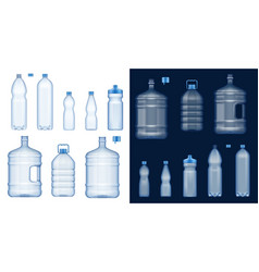water bottle mockups plastic drink containers vector image