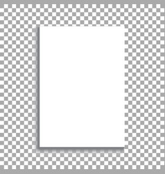 white sheet of paper format a4 with shadows vector image