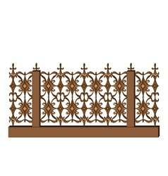 Wrought-iron railing on white vector