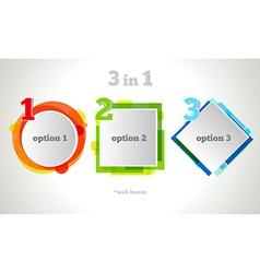 Abstract Web Design Bubble Text vector image