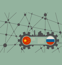 economic relations between china and russia vector image vector image