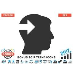 Head Plug-In Arrow Flat Icon With 2017 Bonus Trend vector image vector image