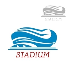 Modern sport stadium or arena icon vector