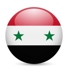 Round glossy icon of syria vector image vector image