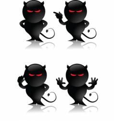 devil toy vector image vector image