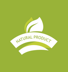 eco emblem - natural product vector image
