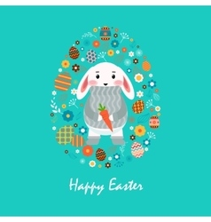 Happy easter 12 vector image vector image