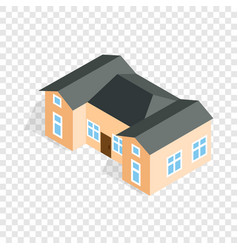 house with two outbuildings isometric icon vector image