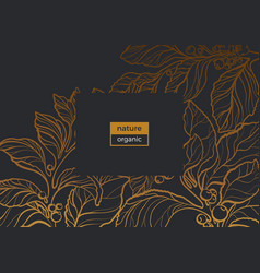 template gold gradient organic vector image vector image