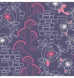 decorative seamless pattern with roses vector image