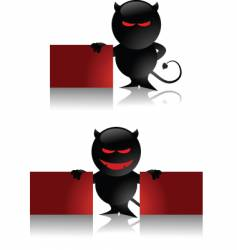 devil toy and banner vector image