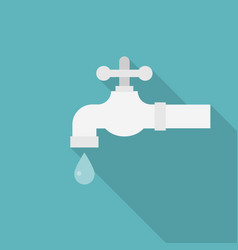 faucet with droplet icon vector image