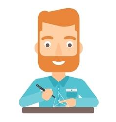 Man using three D pen vector image vector image