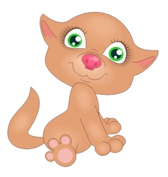 red kitten vector image