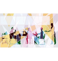 Restaurant mosaic vector image