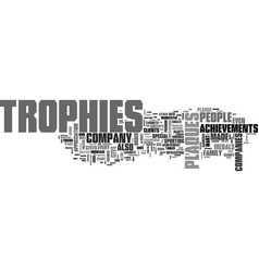 why are trophies and plaques important text word vector image vector image
