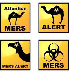 Coronavirus alert icons tags vector image vector image