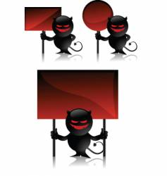devil toy and signs vector image vector image