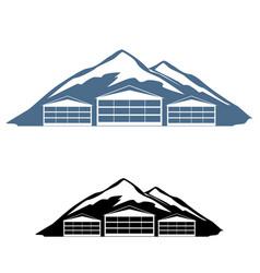 logo ski resort vector image