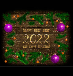 2022 new year card vector image