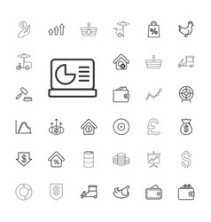 33 market icons vector