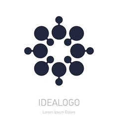 Abstract Logotype logo design element or icon vector image