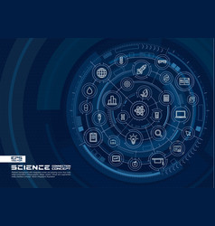 abstract science technology background digital vector image