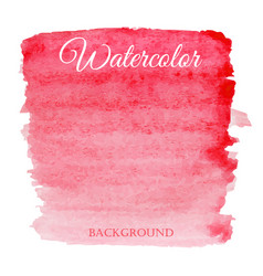abstract watercolor red hand drawn background vector image