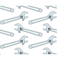 Adjustable wrench tool pattern vector